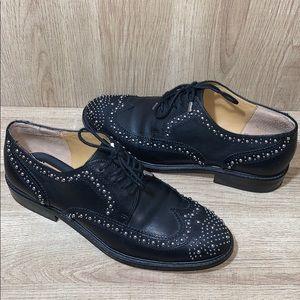Dolce Vita Black Studded Oxfords
